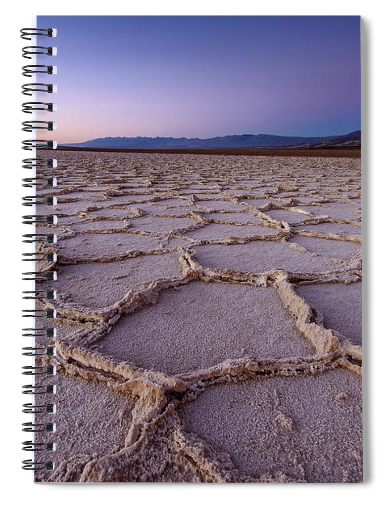 Scenics Spiral Notebook featuring the photograph Salt Flat Basin by Piriya Photography