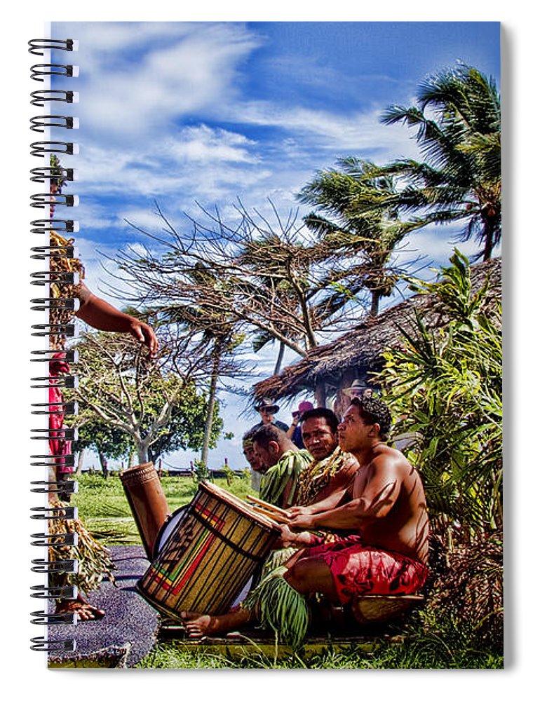 Samoa Spiral Notebook featuring the photograph Samoan Torch Bearer by David Smith