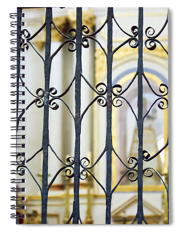 Sistine Chapel Of Mexico Spiral Notebook featuring the photograph Sanctuary Atotonilco by Cathy Anderson