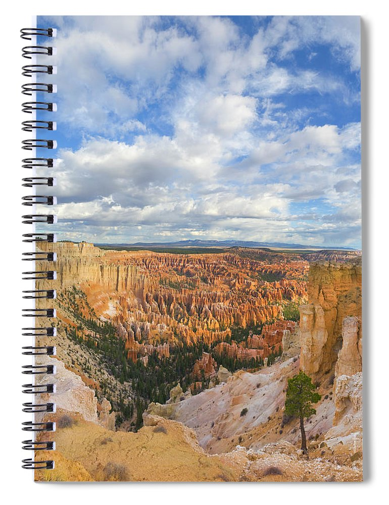 00431169 Spiral Notebook featuring the photograph Sandstone Hoodoos Bryce Canyon N P by Yva Momatiuk John Eastcott