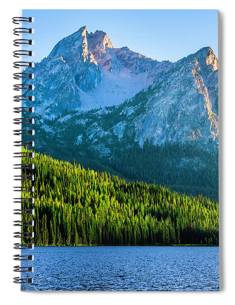 Scenics Spiral Notebook featuring the photograph Sawtooth Mountains And Stanley Lake by Dszc