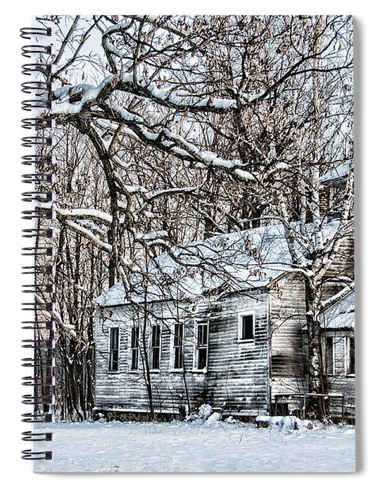 Old School House Spiral Notebook featuring the photograph School Out Forever by Paul Freidlund
