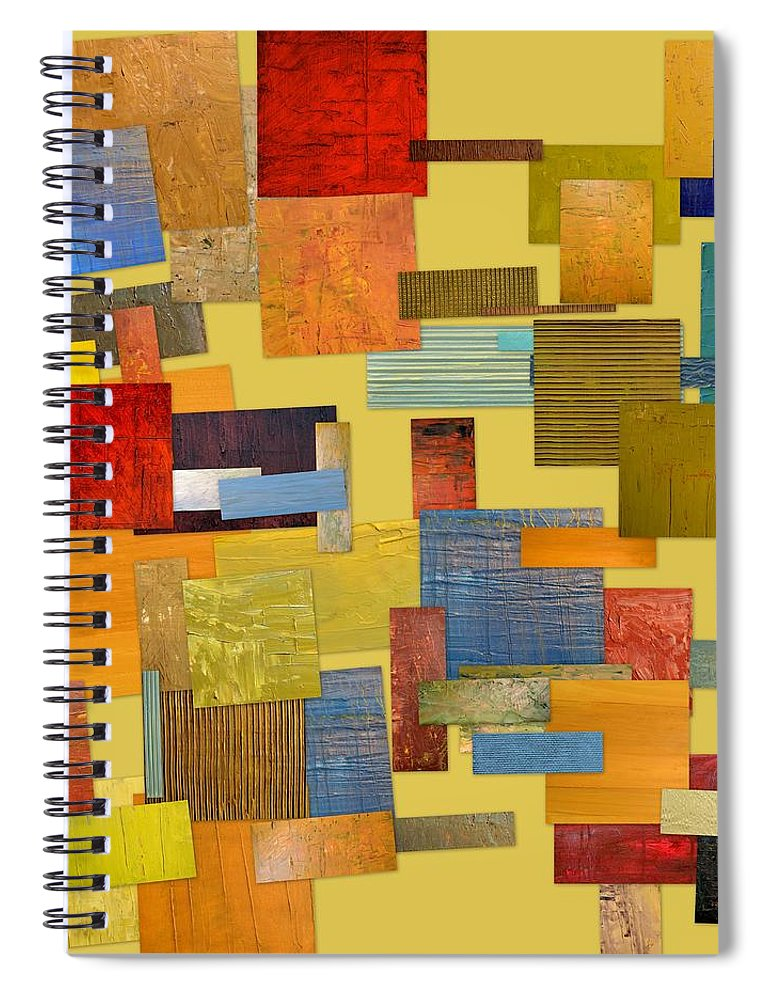 Textural Spiral Notebook featuring the painting Scrambled Eggs Lll by Michelle Calkins