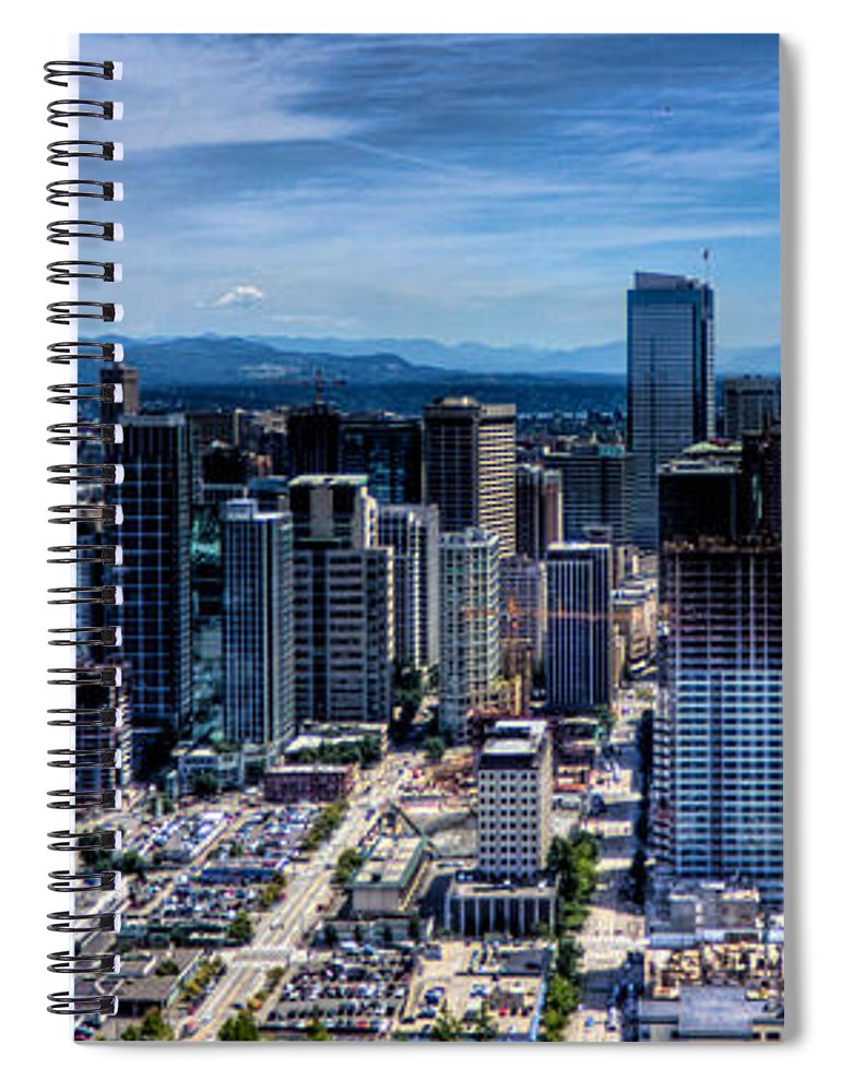 City Spiral Notebook featuring the photograph Seattle City by Jonny D