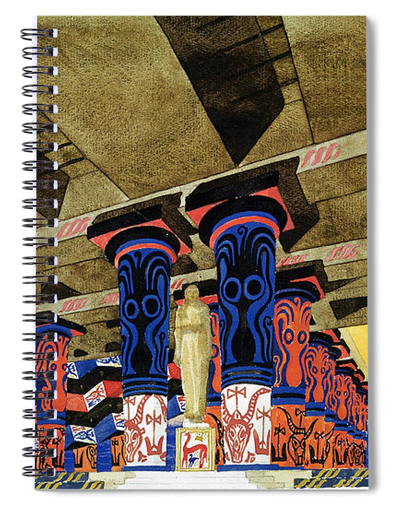Phaedra Spiral Notebook Featuring The Photograph Set Design For Phedre By Jean Racine 1639 99