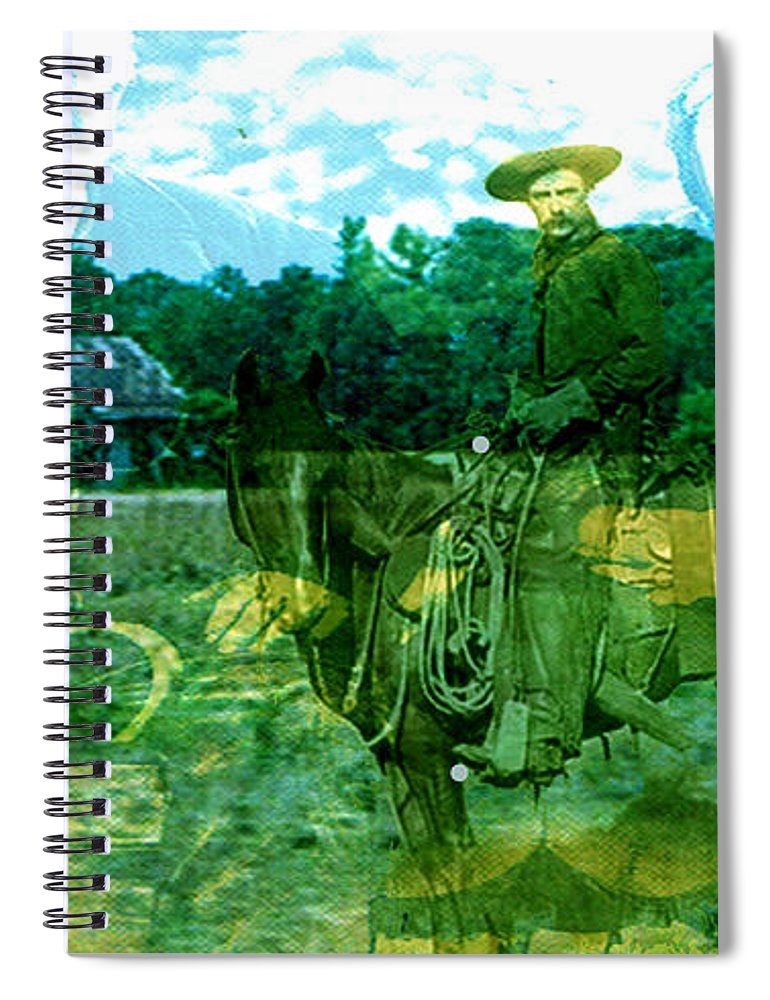 Shadow On The Land Spiral Notebook featuring the digital art Shadows On The Land by Seth Weaver