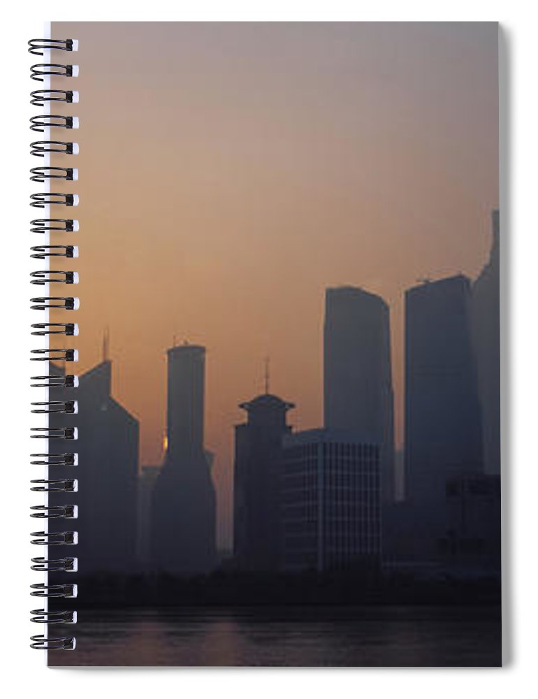 Tranquility Spiral Notebook featuring the photograph Shanghai In Early Morning by Xijia Cao