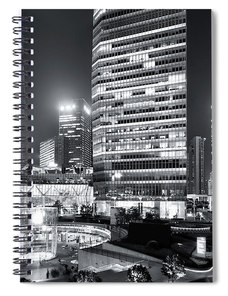 Financial District Spiral Notebook featuring the photograph Shanghai by Photographer - Rob Smith