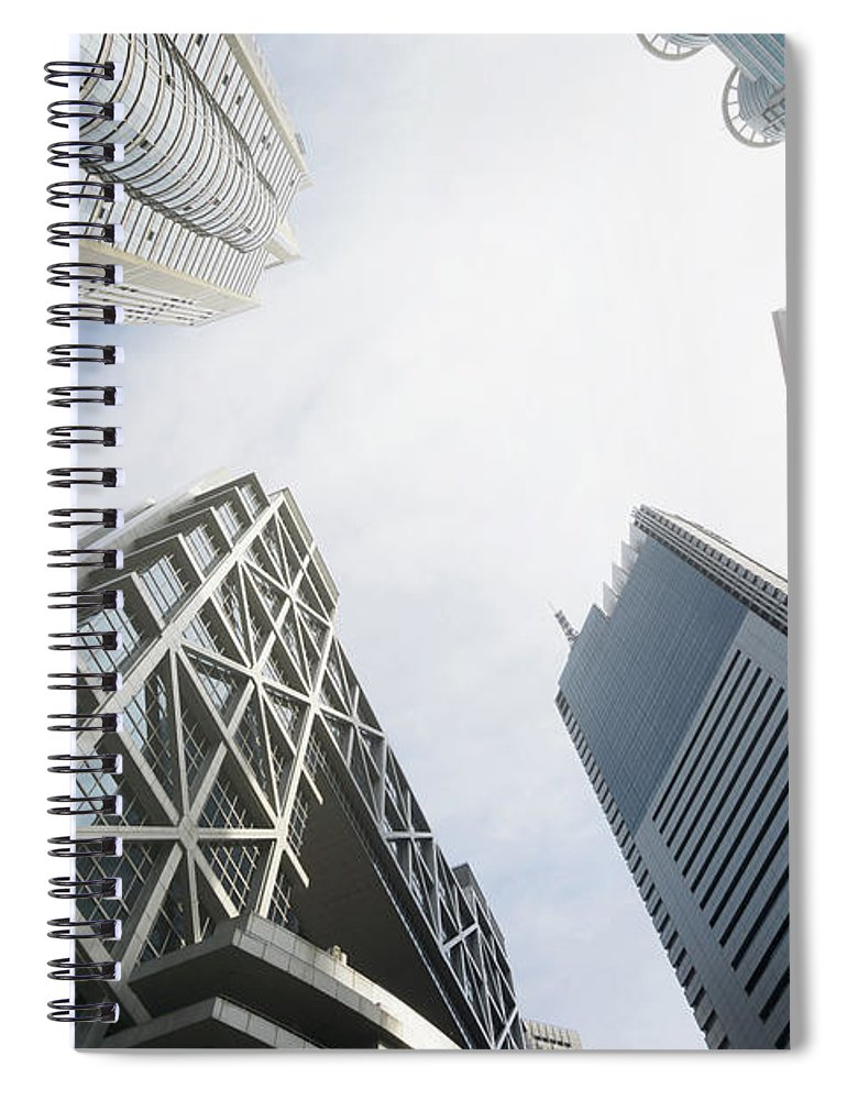 Downtown District Spiral Notebook featuring the photograph Shanghai Stock Exchange,china - East by Zyxeos30