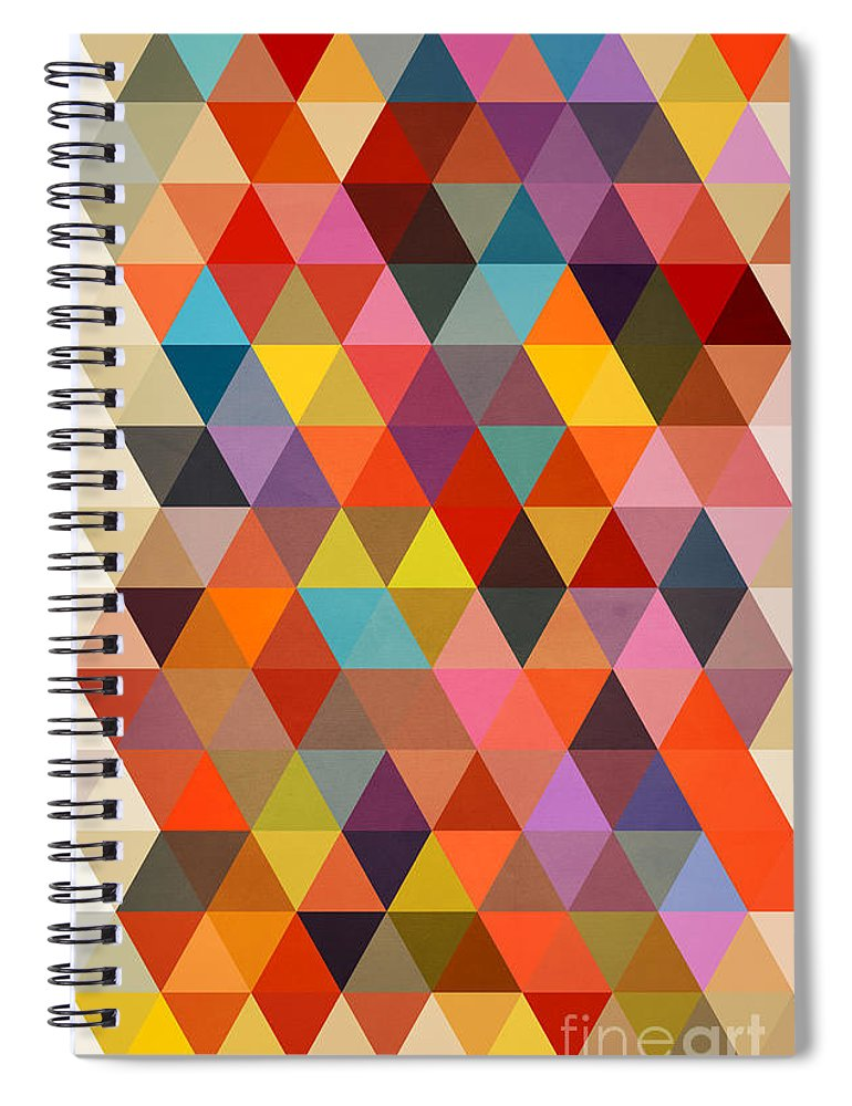 Contemporary Spiral Notebook featuring the painting Shapes by Mark Ashkenazi