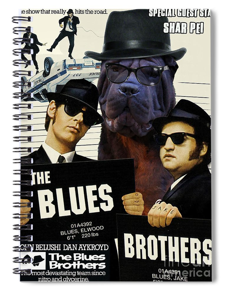 b21d0e88928 Shar Pei Spiral Notebook featuring the painting Shar Pei Art Canvas Print -  The Blues Brothers