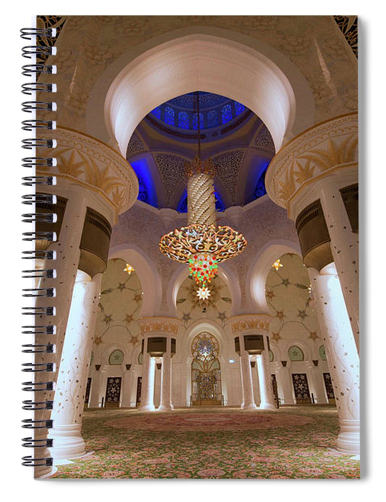 Arch Spiral Notebook featuring the photograph Sheikh Zayed Grand Mosque by Dany Eid Photography