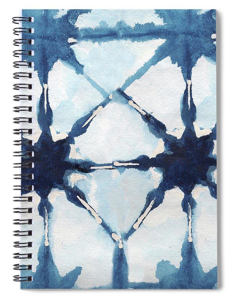 Shibori Spiral Notebook featuring the digital art Shibori II by Elizabeth Medley