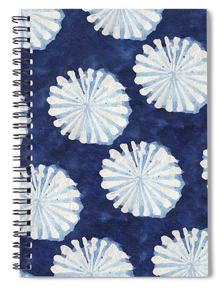 Shibori Spiral Notebook featuring the digital art Shibori IIi by Elizabeth Medley