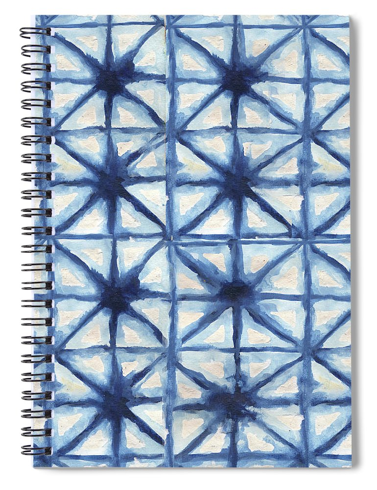 Shibori Spiral Notebook featuring the digital art Shibori Iv by Elizabeth Medley