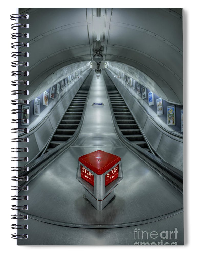 London Spiral Notebook featuring the photograph Shine In Silver by Evelina Kremsdorf