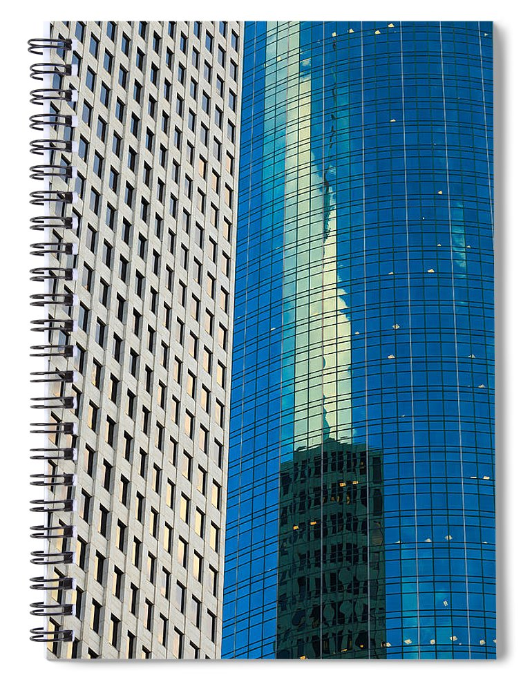 Architecture Spiral Notebook featuring the photograph Side By Side by Raul Rodriguez