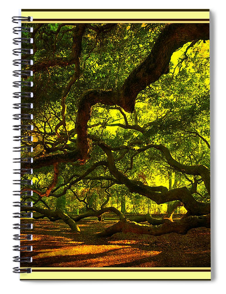 Angel Oak Spiral Notebook featuring the photograph Side Limbs of the 1400 Year Old Angel Oak by Susanne Van Hulst