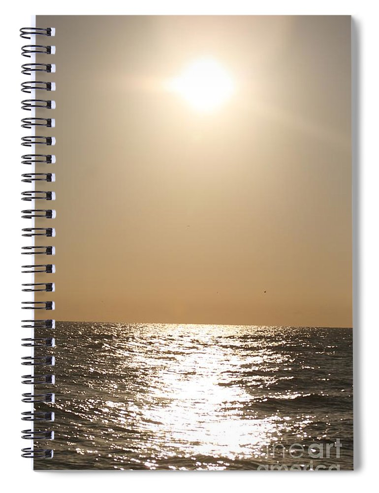 Silver Spiral Notebook featuring the photograph Silver and Gold by Nadine Rippelmeyer