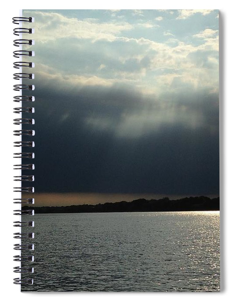 Water Spiral Notebook featuring the photograph Silver Lining by Sheila Mashaw