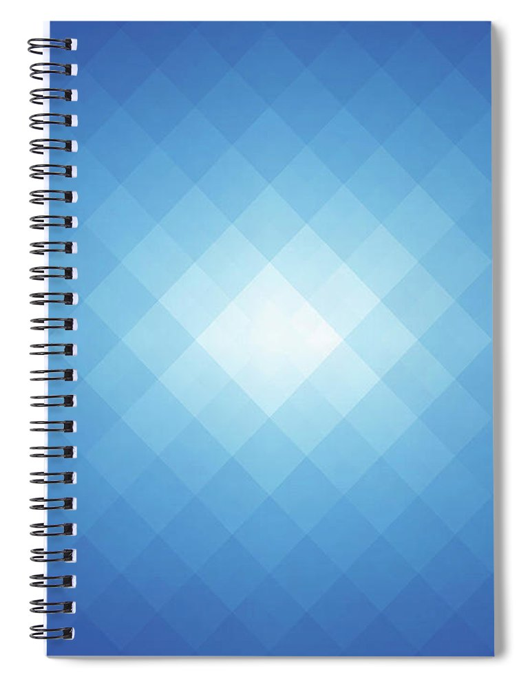 Empty Spiral Notebook featuring the digital art Simple Blue Pixels Background by Simon2579