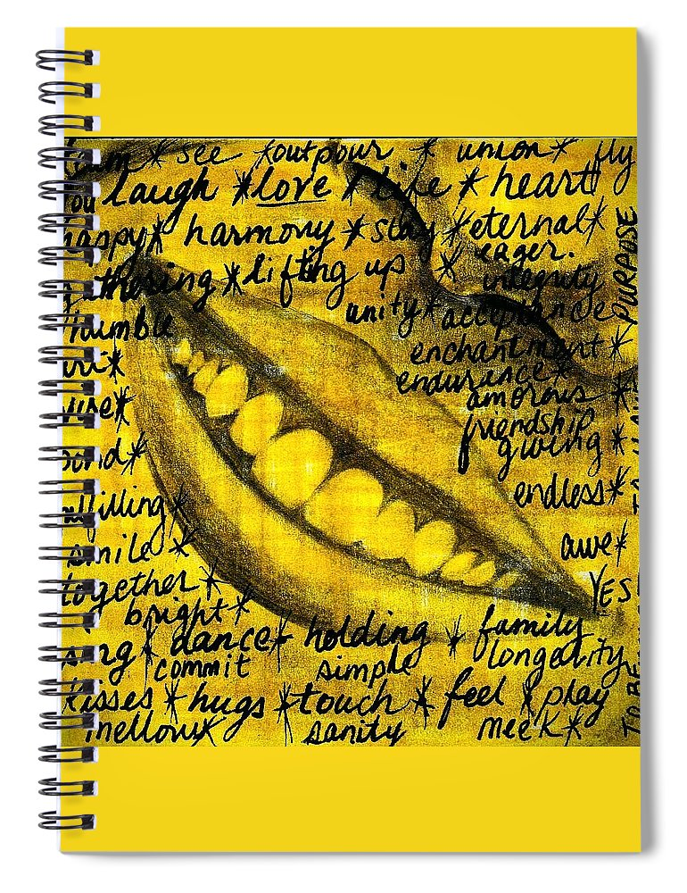 Beautiful Spiral Notebook featuring the photograph Simply Smile and your golden virtues will be written all over you by Artist RiA