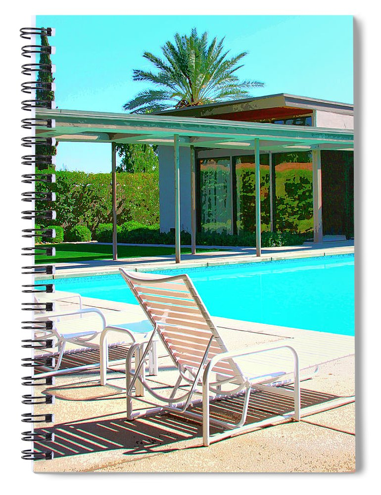 Sinatra House Spiral Notebook featuring the photograph Sinatra Pool Palm Springs by William Dey
