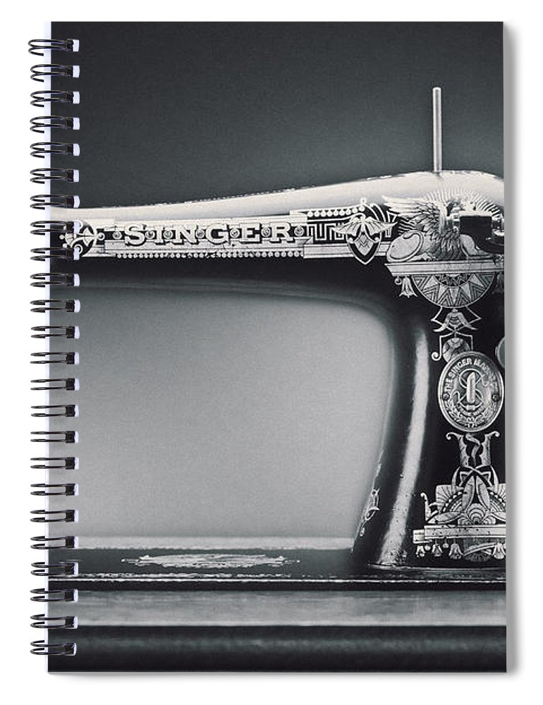 Singer Sewing Machine Spiral Notebook featuring the photograph Singer Machine by Kelley King