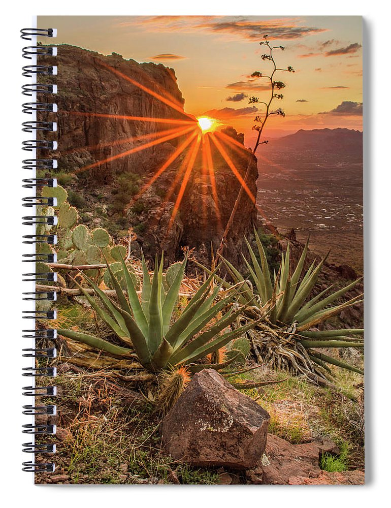 Tranquility Spiral Notebook featuring the photograph Siphon Draw Magic by J.t