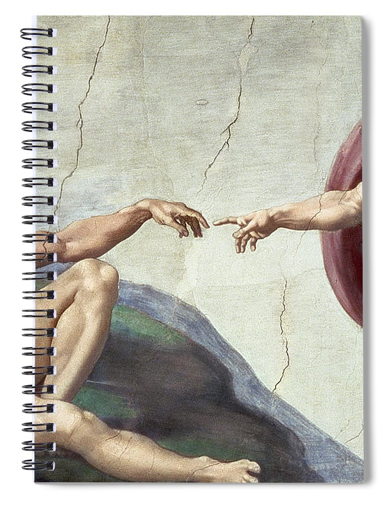 Renaissance Spiral Notebook featuring the painting Sistine Chapel Ceiling by Michelangelo Buonarroti