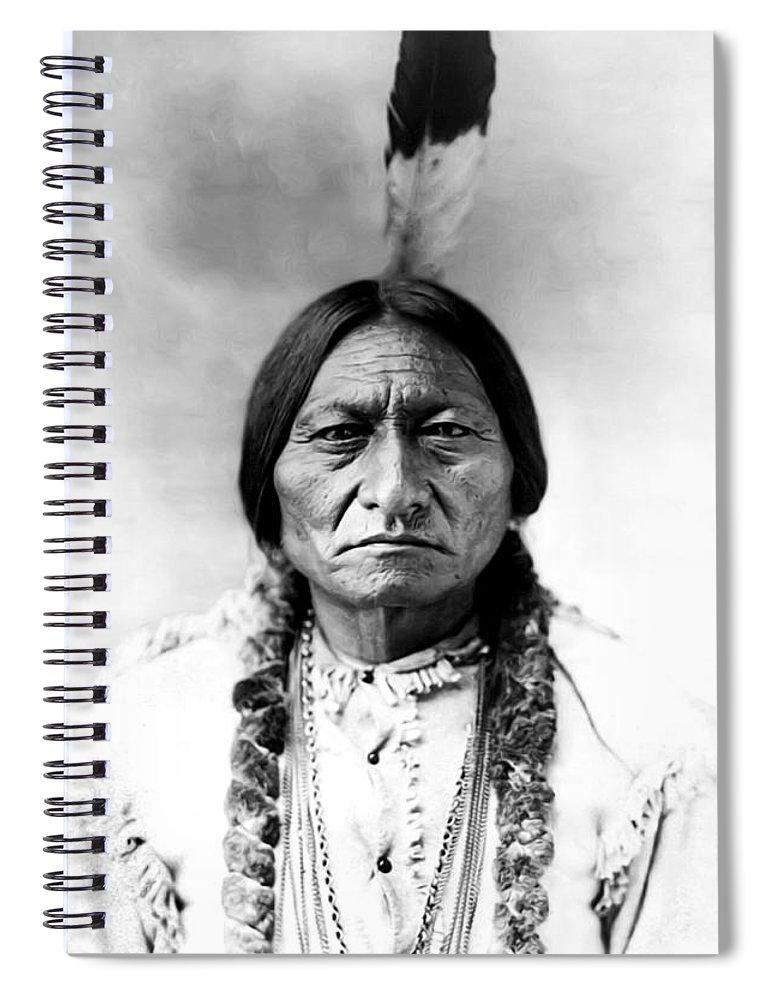 Sitting Bull Spiral Notebook featuring the photograph Sitting Bull by Bill Cannon