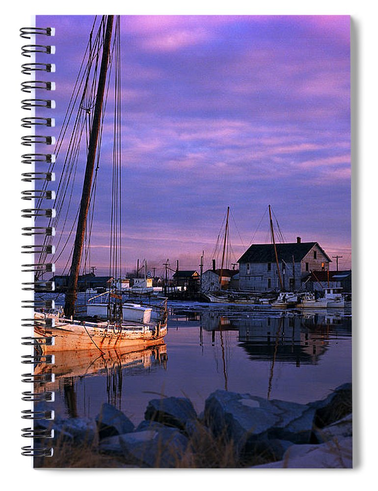 Skipjack Spiral Notebook featuring the photograph Skipjack by James L. Amos