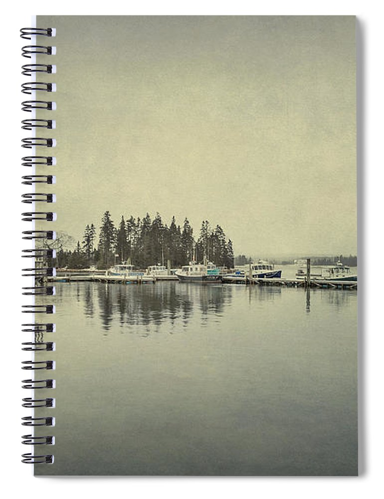 Bernard Spiral Notebook featuring the photograph Sleepy Shores by Evelina Kremsdorf