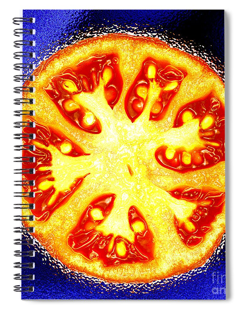 Tomato Spiral Notebook featuring the photograph Sliced Tomato by Nancy Mueller