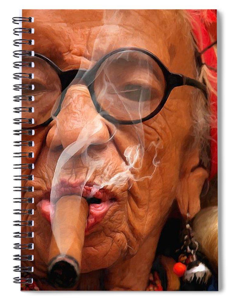 Smoking Spiral Notebook featuring the digital art Smoking - Caribbean Serie by Gabriel T Toro