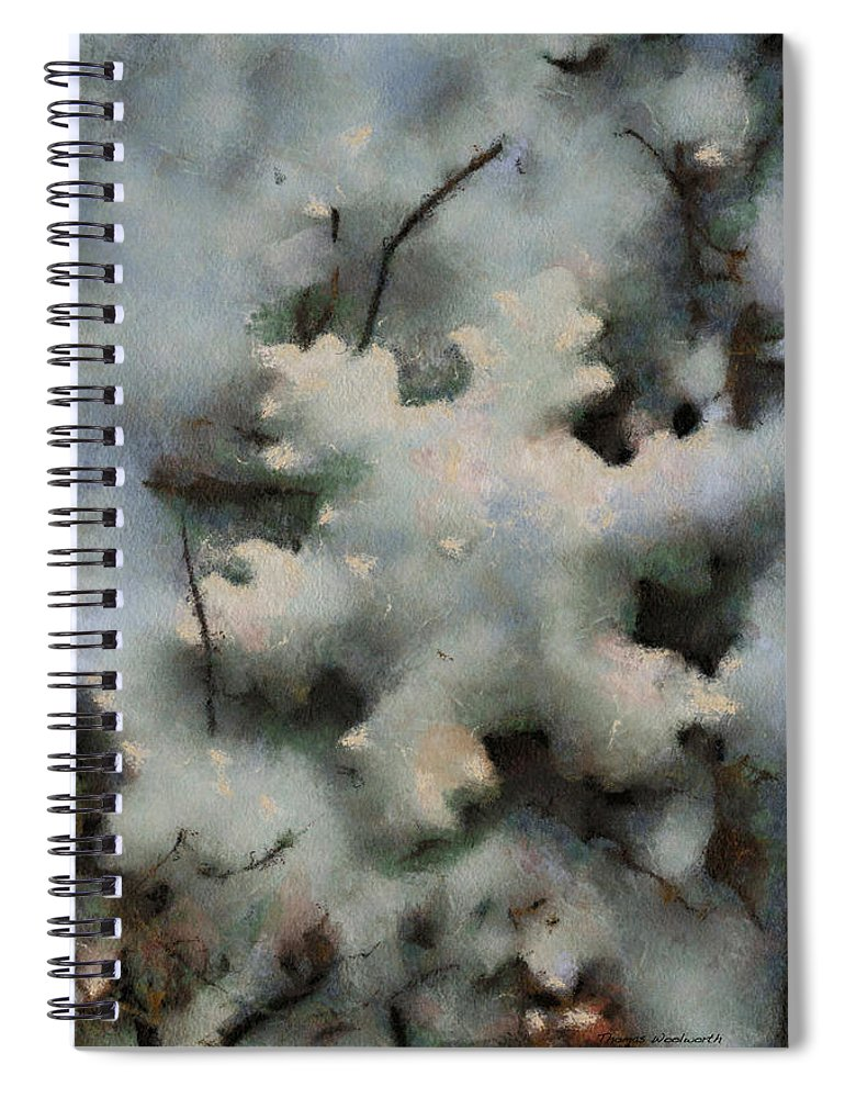 Season Spiral Notebook featuring the photograph Snow Flake 03 Photo Art by Thomas Woolworth