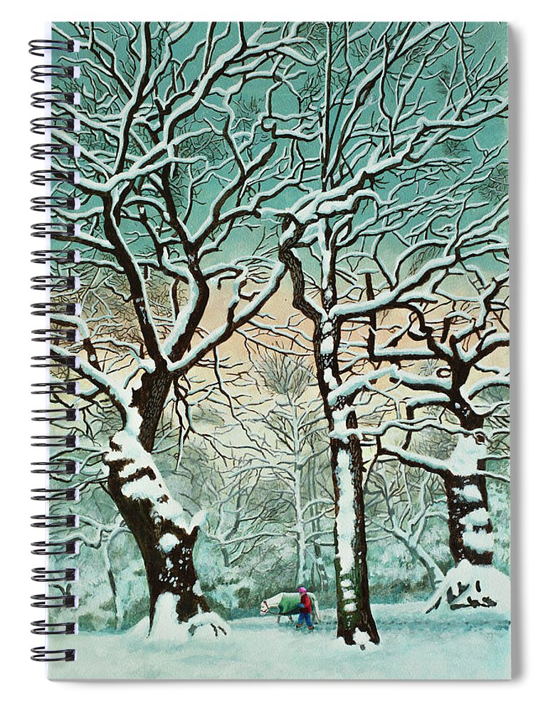 People Spiral Notebook featuring the digital art Snow In Forest by Georgette Douwma