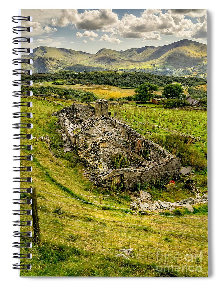 Decay Spiral Notebook featuring the photograph Snowdon Ruin by Adrian Evans