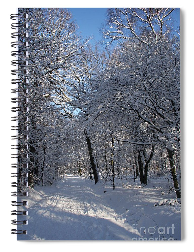 Forest Spiral Notebook featuring the photograph Snowy Trail by Christiane Schulze Art And Photography