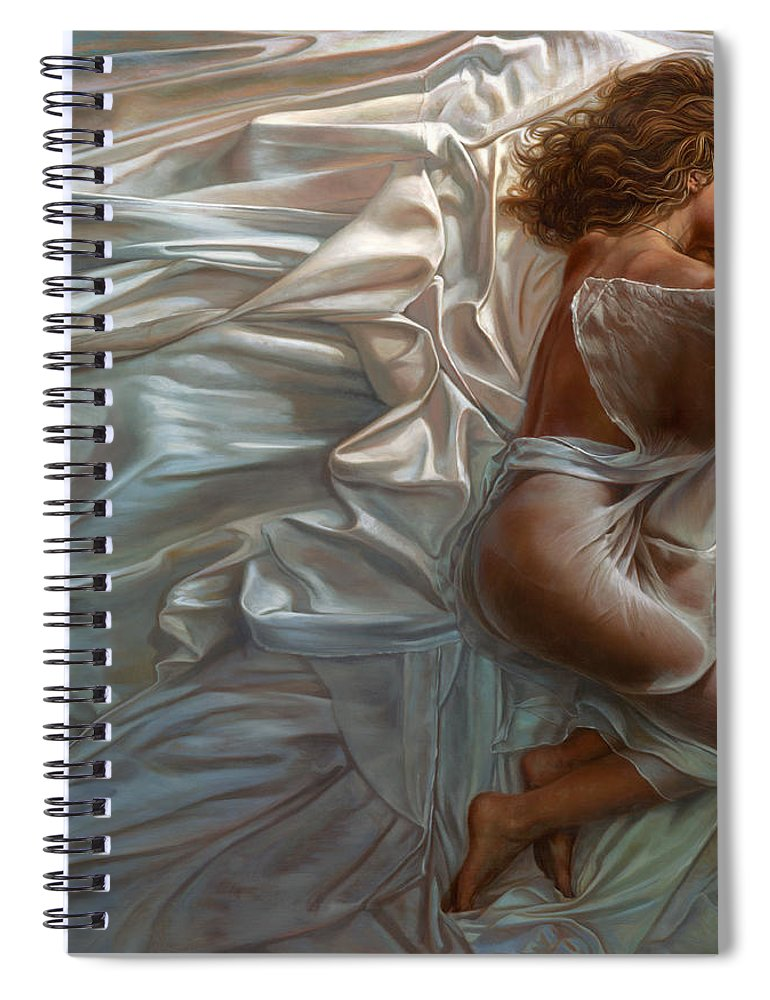 Portrait Spiral Notebook featuring the painting Sogni Dolci by Mia Tavonatti