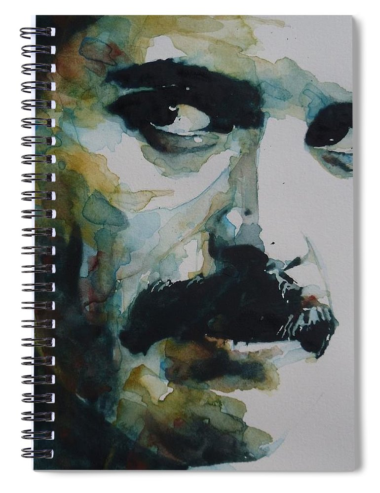 Queen Spiral Notebook featuring the painting Freddie Mercury by Paul Lovering