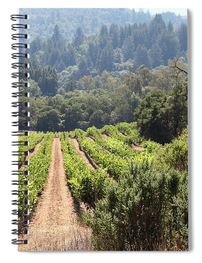 Vineyard Spiral Notebook featuring the photograph Sonoma Vineyards In The Sonoma California Wine Country 5d24518 by Wingsdomain Art and Photography