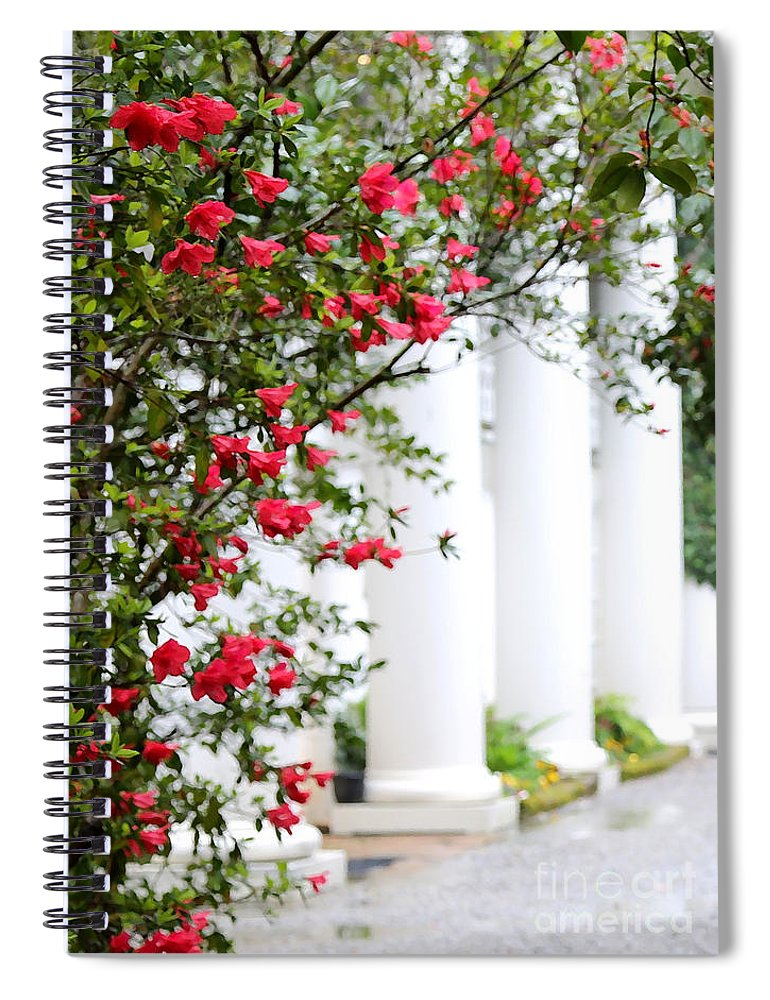 Southern Home Spiral Notebook featuring the photograph Southern Home - Digital Painting by Carol Groenen