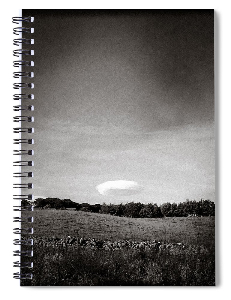 Spaceship Spiral Notebook featuring the photograph Spaceship by Dave Bowman