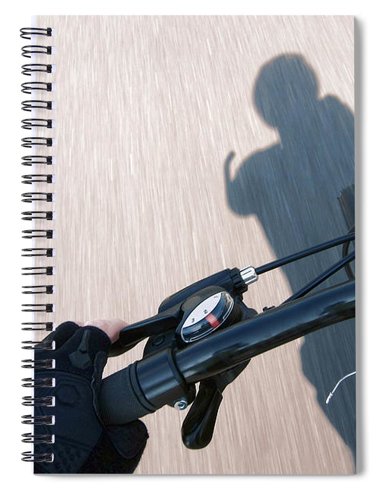 Cyclist Spiral Notebook featuring the photograph Speed by Olivier Le Queinec