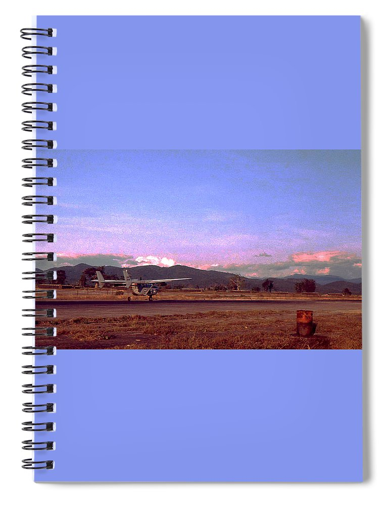 Vietnam Spiral Notebook featuring the photograph Spotter Plane by Norman Johnson