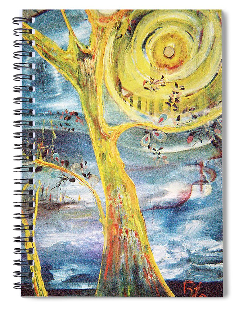 Impressionism Spiral Notebook featuring the painting Spring Glory by Peggy Blood