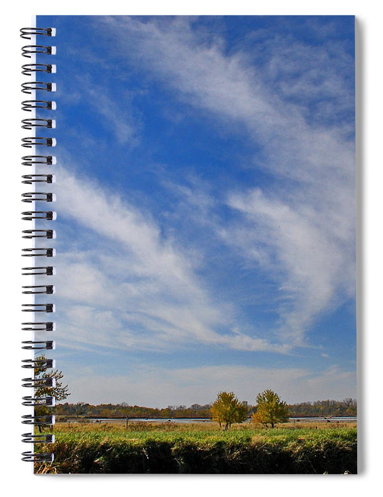 Landscape Spiral Notebook featuring the photograph Squaw Creek Landscape by Steve Karol