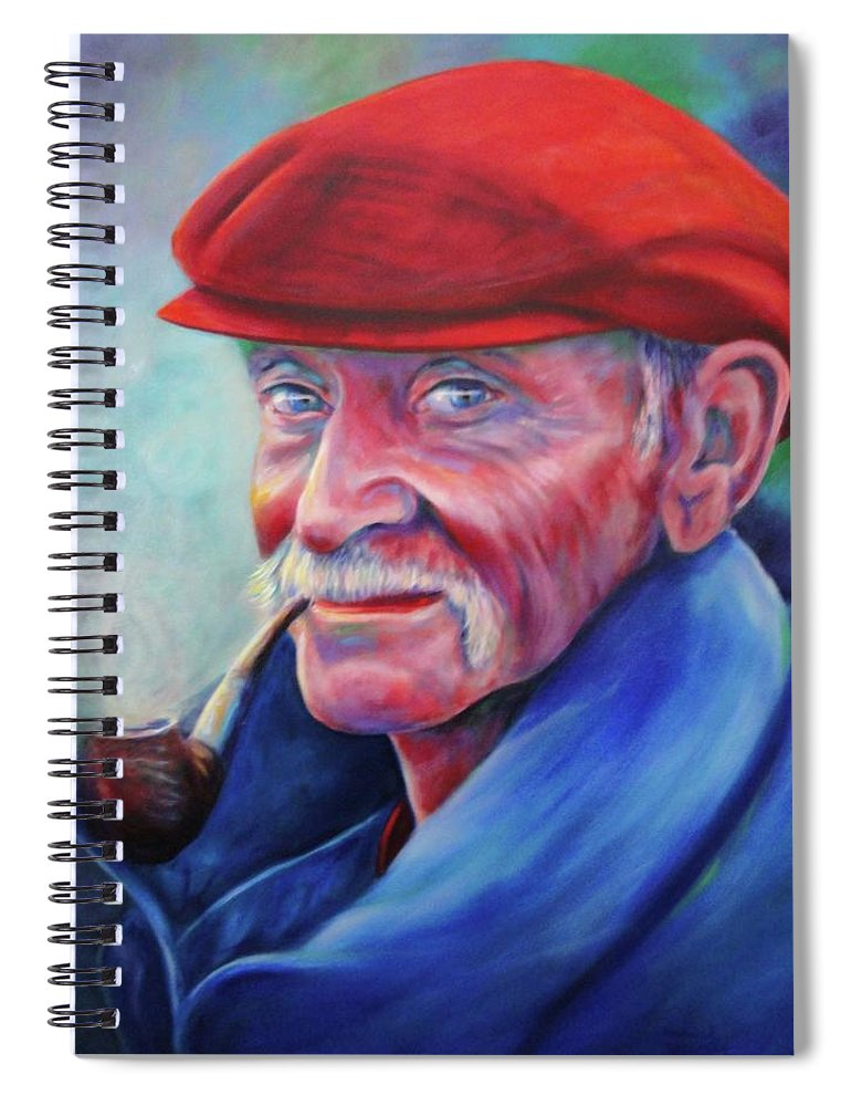 Portrait Spiral Notebook featuring the painting St. Francis by Shannon Grissom