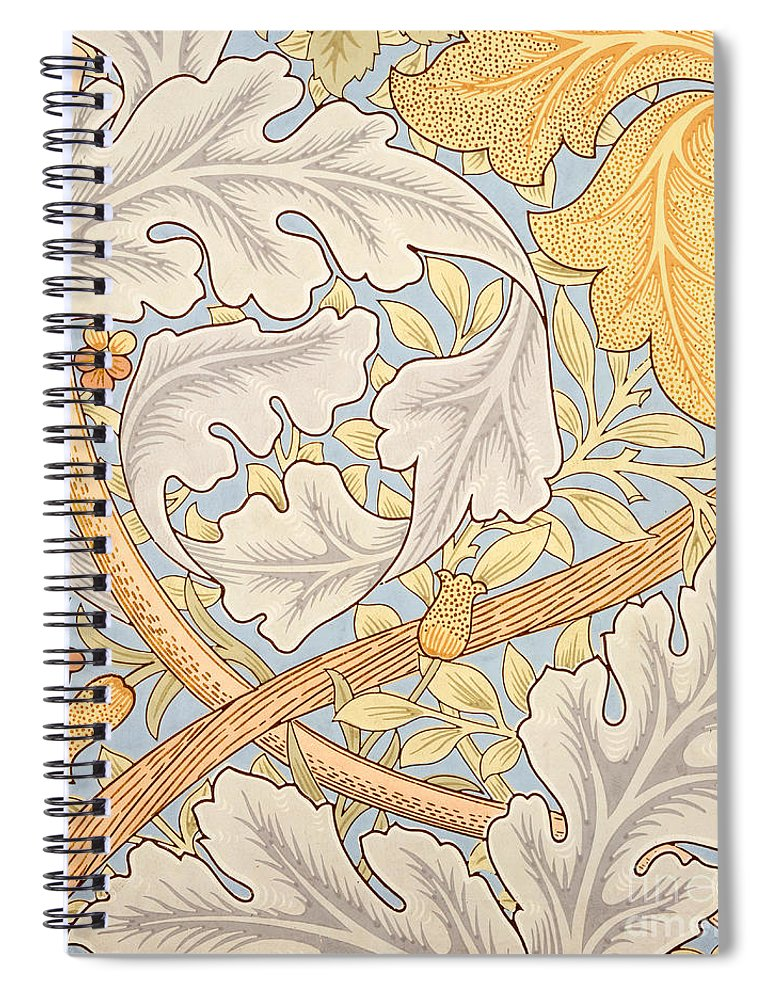 St James Spiral Notebook featuring the painting St James Wallpaper Design by William Morris